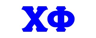 Chi Phi Big Greek Letter Window Sticker Decal