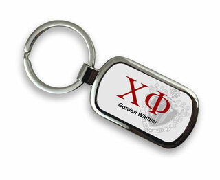 Chi Phi Chrome Crest - Shield Key Chain