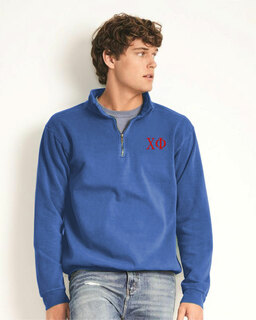 Chi Phi Comfort Colors Garment-Dyed Quarter Zip Sweatshirt