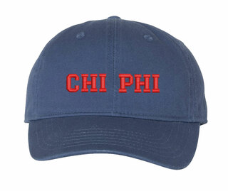 Chi Phi Comfort Colors Pigment Dyed Baseball Cap