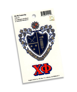 Chi Phi Crest - Shield Decal sticker