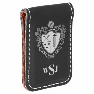 Chi Phi Crest Leatherette Money Clip
