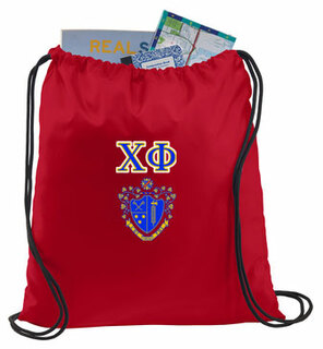Chi Phi Crest - Shield Cinch Sack