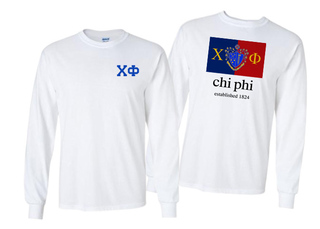 Chi Phi Flag Long Sleeve T-shirt