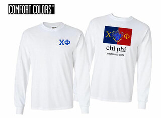 Chi Phi Flag Long Sleeve T-shirt - Comfort Colors