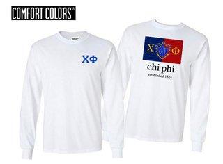 Chi Phi Flag Long Sleeve T-shirt - Comfort Colors