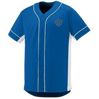 DISCOUNT-Chi Phi Fraternity Crest - Shield Slugger Baseball Jersey