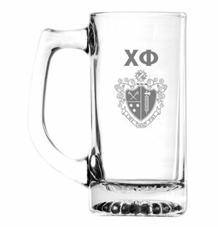 Chi Phi Glass Engraved 25 Ounce Mug