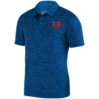 Chi Phi Greek Letter Intensify Heather Sport Polo