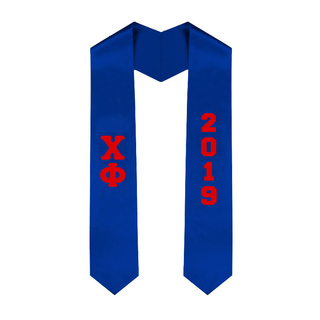Chi Phi Greek Lettered Graduation Sash Stole With Year - Best Value