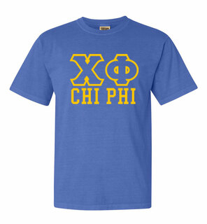 Chi Phi Greek Outline Comfort Colors Heavyweight T-Shirt