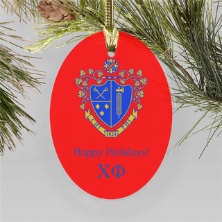 Chi Phi Holiday Color Crest - Shield Ornament