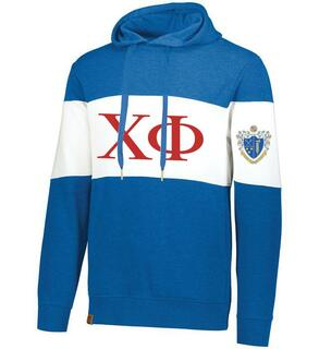Chi Phi Ivy League Hoodie W Crest On Left Sleeve