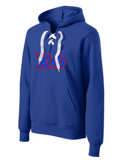 DISCOUNT-Chi Phi Lace Up Pullover Hooded Sweatshirt