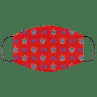 Chi Phi Letter Crest Face Masks