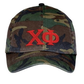 Chi Phi Lettered Camouflage Hat