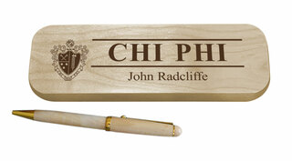 Chi Phi Maple Wood Pen Set
