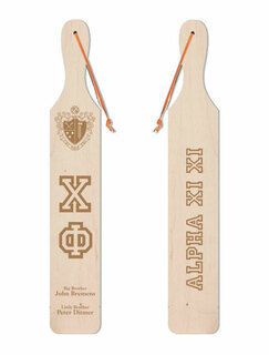 Chi Phi Old School Wood Greek Paddle