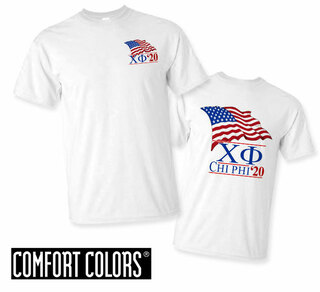 Chi Phi Patriot  Limited Edition Tee - Comfort Colors