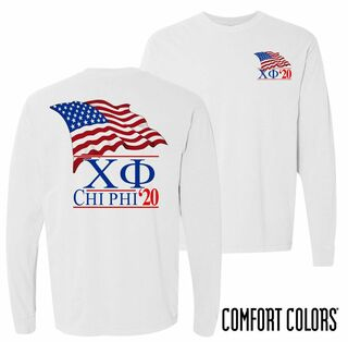 Chi Phi Patriot Long Sleeve T-shirt - Comfort Colors