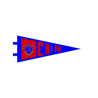 "Chi Phi Pennant Decal 4"" Wide"