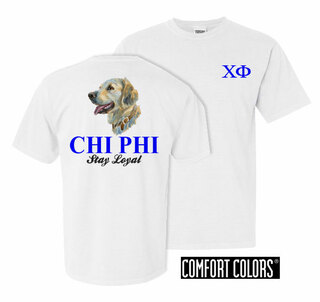 Chi Phi Stay Loyal Comfort Colors T-Shirt