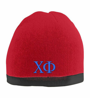 Chi Phi Two Tone Knit Beanie