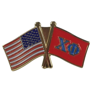 Chi Phi USA Flag Lapel Pin