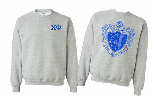 Chi Phi World Famous Crest - Shield Printed Crewneck Sweatshirt- $25!