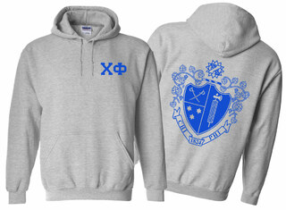 Chi Phi World Famous Crest - Shield Printed Hooded Sweatshirt- $35!