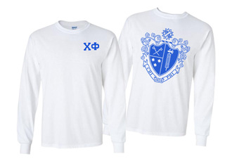 Chi Phi World Famous Crest - Shield Long Sleeve T-Shirt- $19.95!
