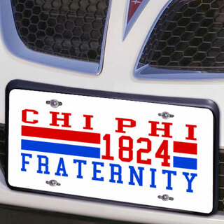 Chi Phi Year License Plate Cover