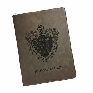 Chi Phi Zipper Leatherette Portfolio with Notepad