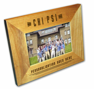 "Chi Psi 4"" x 6"" Stripes  Custom Picture Frame"