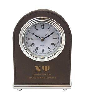 Chi Psi Arch Desk Clock