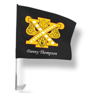 Chi Psi Car Flag