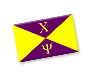 Chi Psi Ceramic Flag Magnet