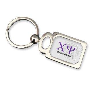 Chi Psi Chrome Crest Key Chain