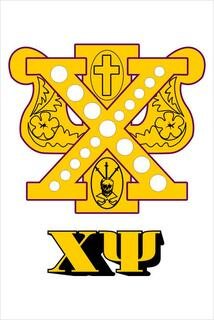 Chi Psi Crest - Shield Window Decals Stickers