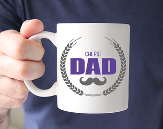 Chi Psi Dadstache Mug