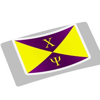 Chi Psi Flag Decal Sticker