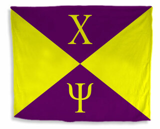 Chi Psi Flag Giant Velveteen Blanket