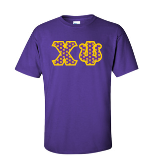 Chi Psi Fraternity Crest - Shield Twill Letter Tee