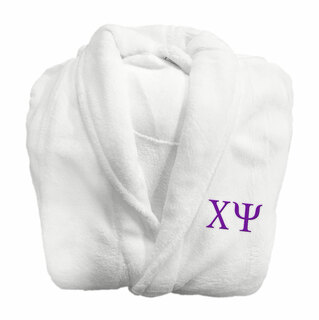 Chi Psi Fraternity Lettered Bathrobe