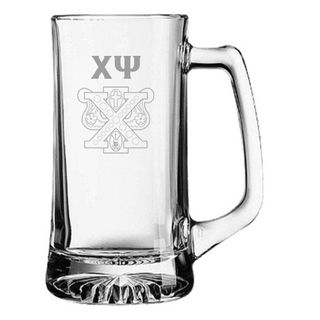 Chi Psi Glass Engraved Mug
