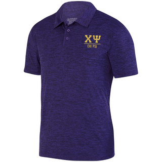 Chi Psi Greek Letter Intensify Heather Sport Polo