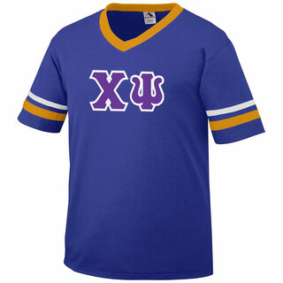 DISCOUNT-Chi Psi Jersey With Greek Applique Letters
