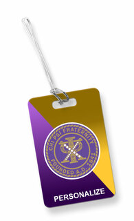 Chi Psi Luggage Tag