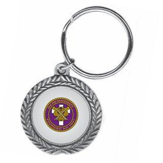 Chi Psi Pewter Key Ring