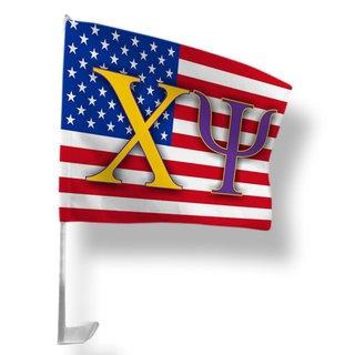 Chi Psi USA Car Flag